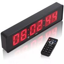 Cronometro Relógio Led Digital Parede Mesa C/ Controle - Lelong