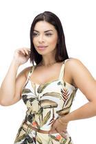 Cropped Feminino Estampado Floral - 1004051 - Recolleta
