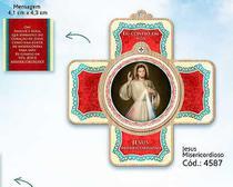 Cruz porta oração jesus misericordioso - Armazem