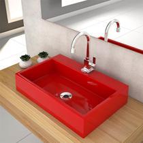 Cuba De Apoio P/Banheiro Compace Florenza Q550w Retangular Vermelha -