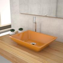 Cuba De Apoio P/Banheiro Compace Messina Rt45w Retangular Amarela -