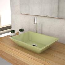 Cuba De Apoio P/Banheiro Compace Messina Rt45w Verde Acqua -