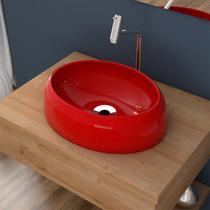 Cuba De Apoio Para Banheiro Compace Capri Ov39w Oval Vermelha -