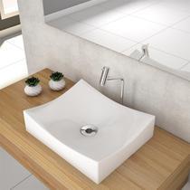Cuba De Apoio Para Banheiro Compace Milla M44w Retangular Branca -