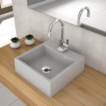 Cuba De Apoio Para Banheiro Compace Q355w Quadrada Cinza -