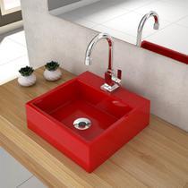 Cuba De Apoio Para Banheiro Compace Q355w Quadrada Vermelha -