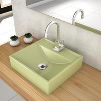 Cuba De Apoio Para Banheiro Compace Ravena Q39w Quadrada Verde -