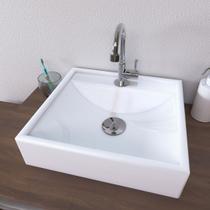 Cuba de Apoio para Banheiro e Lavabo Modelo Ravena Branca - Croy