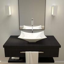 Cuba de Apoio para Banheiro L38 Lux Retangular Folha Compace Branco -