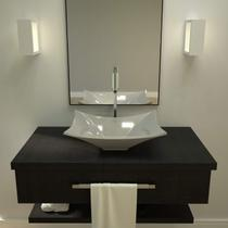 Cuba de Apoio para Banheiro L38 Lux Retangular Folha Compace Cinza -