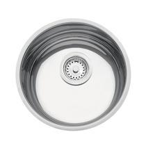 Cuba de Embutir para Cozinha Tramontina Redonda 30 BL Válvula de 3.1/2 Inox -