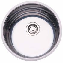 Cuba de Embutir para Cozinha Tramontina Redonda 35 BL Válvula de 3.1/2 Inox -
