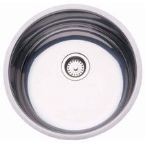 Cuba de Embutir para Cozinha Tramontina Redonda 38 BL Válvula de 3.1/2 Inox -