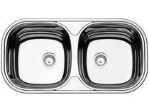 Cuba Dupla de Sobrepor para Cozinha Tramontina - Inox Retangular 78x39,8cm Prime Isis