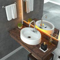 Cuba para Banheiro OV43W Oval Onix Compace -