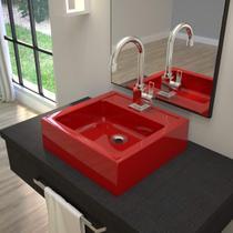 Cuba para Banheiro Q35W Compace Vermelho -
