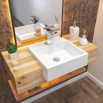 Cuba para Banheiro Quadrada Trevalla XQ395W Semi Encaixe -
