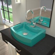 Cuba para Banheiro RT41W Retangular Aria Compace Azul Turquesa -