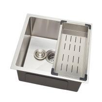 Cuba para cozinha gourmet pia aço inox com acessórios Terena 40 cm Pingoo.casa - Prata -
