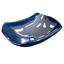 Cuba Pia de Apoio para Banheiro Abaulada Luxo 42 C08 Azul Escuro - Mpozenato -