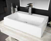 Cuba Pia De Apoio Para Banheiro Toleato Retangular Athenas 57.5 Cm Marmorite Branco -