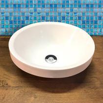 Cuba Pia para Banheiro Redonda Branca - Lima Industria