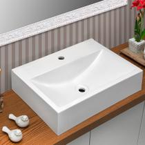 Cuba Pia para Banheiro Retangular Inspira Branca - ALADDIN