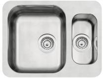 Cuba Simples e Auxiliar de Embutir para Cozinha - Tramontina Inox Retangular 58x45cm Prime 94037102