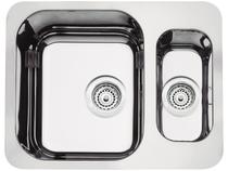 Cuba Simples e Auxiliar de Embutir para Cozinha - Tramontina Inox Retangular 58x45cm Prime 94037203