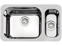 Cuba Simples e Auxiliar de Embutir para Cozinha - Tramontina Inox Retangular 64x39cm Prime 94039202
