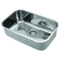 Cuba Simples Embutir Aço para Cozinha Franke 59cmx37cmx18cm sem Válvula Alto Brilho -