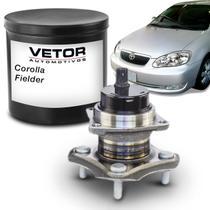 Cubo de Roda Traseiro Toyota Corolla 2003 a 2007 Fielder 2005 a 2008 ABS 4 Furos Vetor B3024 -