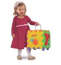 Cubo didático grande 2 em 1 brinquedo educativo mercotoys -