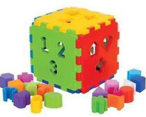 Cubo Didático pequeno - Mercotoys -