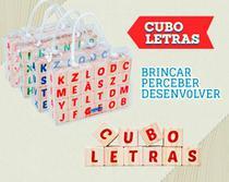 Cubo letras- peças em madeira - Hergg