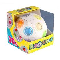 Cubo Magico Bola Puzzle Rainbow Ball Moyu 20 Furos -