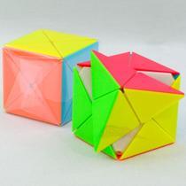 cubo magico diagonal piramide profissional 2x2 top - Magic Cubo