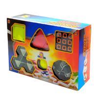 Cubo Mágico Kit com 6 Cubos Variados Jogo Desafio de Raciocínio Lógico - Barcelona