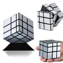 Cubo Mágico Mirror Cube espelhado Blocks Shengshou prateado -