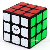 Cubo Mágico Profissional 3x3x3 Qiyi Sail W Preto - Qiyi-mfg
