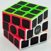 Cubo Mágico Profissional 3x3x3 Qiyi Warrior W Black Carbon -