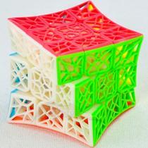 Cubo Mágico Profissional Qiyi 3x3x3 Dna Vazado Stickerless - Moyu