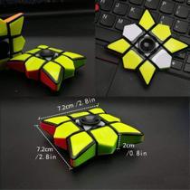 Cubo Magico Rubiks Gyro Giratorio Profissional Fidget Spinner -