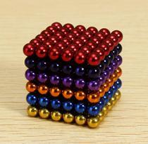 Cubo Magnético colorido 216 Esferas Magnéticas Brinquedo 3mm - Neocube