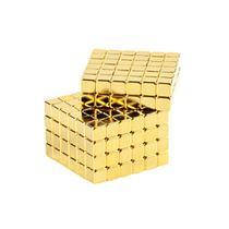 Cubo Magnético quadrado 216 peças Neocube dourado 3mm -
