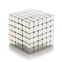 Cubo Magnético quadrado 216 peças Neocube prateado 3mm -