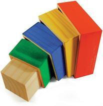 Cubos De Encaixe 5 Cubos De Madeira - Jottplay