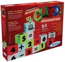 Cubos Encaixáveis Números e Quantidades 24 Peças Xalingo (266574) -