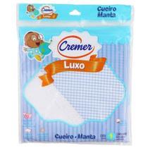 Cueiro de Luxo Azul para Menino - Xadrez - Cremer -