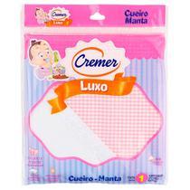 Cueiro de Luxo Para Menina - Rosa - Cremer -
